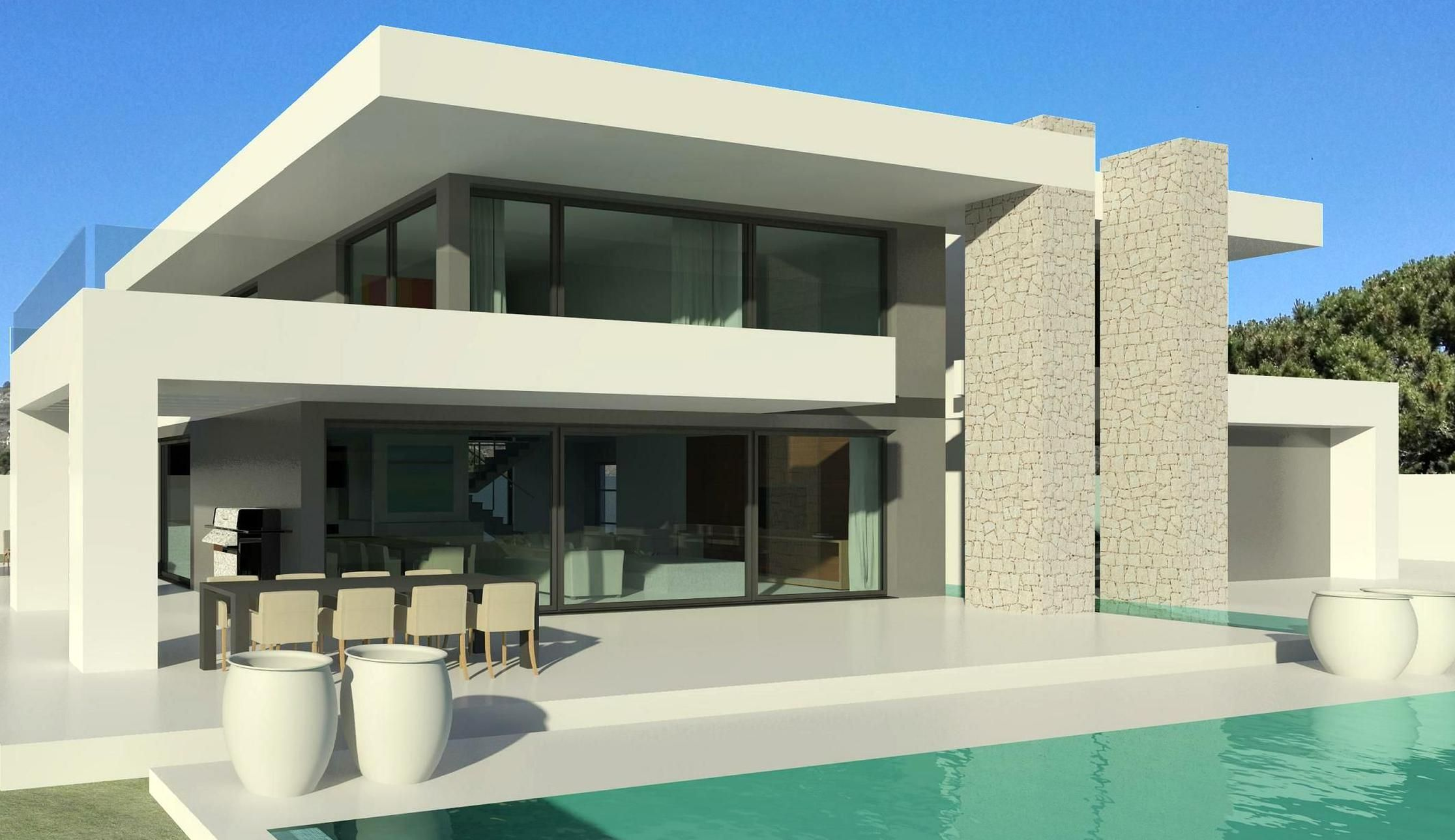 Modern Villa Plan Dwg Architecture Is Both The Process And The Product Of Planning Designing And Constru Villa Plan Modern House Floor Plans Modern House Plans