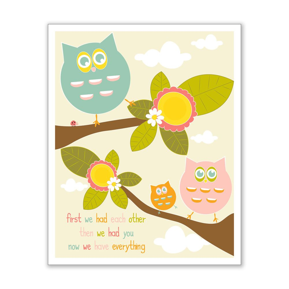 Image of First We Had Each Other Owl Family Giclee Print | Rose ...