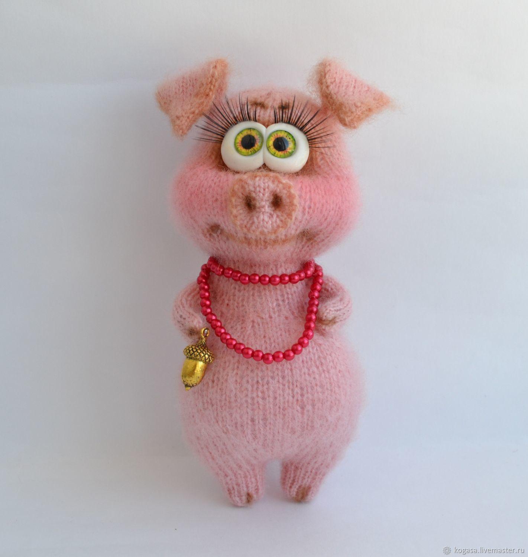вязание ручной работы мк свинка фрося спицы галина бурова