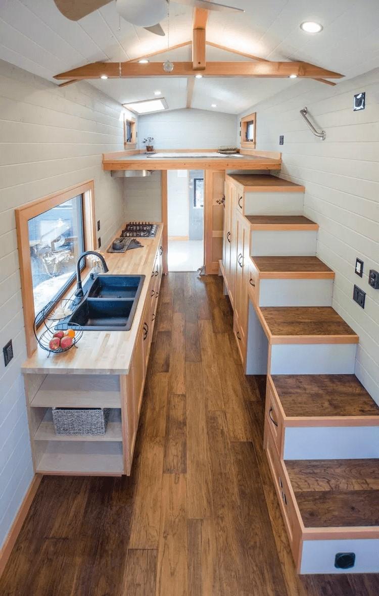 Escalier Dans Un Salon 55 idées étonnantes et pratiques pour votre cuisine sous l