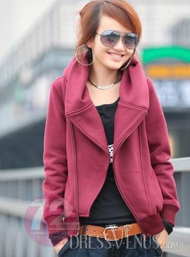 US$21.99 Exquisite Drape Long Sleeve Pure Color Thick Hoodie. #Hoodies #Hoodie #Sleeve #Long