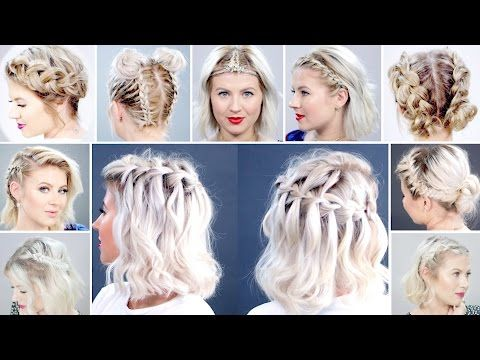 Top 15 Braided Short Hairstyles Milabu Youtube Braids For Short Hair Short Hair Styles Short Hair Dos