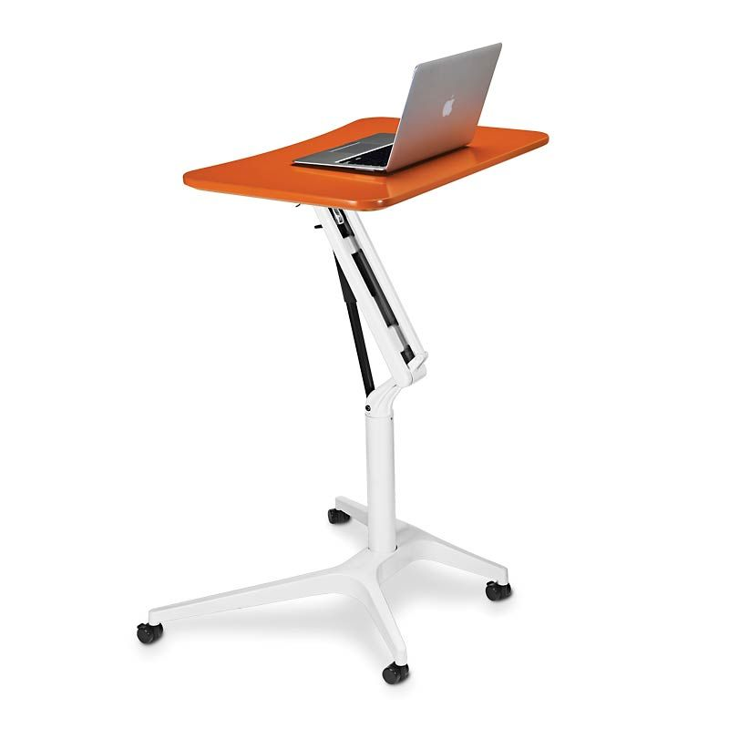 Sit To Stand Rolling Workstation Ingenious And Nicely Priced I Ve Dreamed Of Something Like This And Someon Luxury Office Furniture Portable Desk Workstation