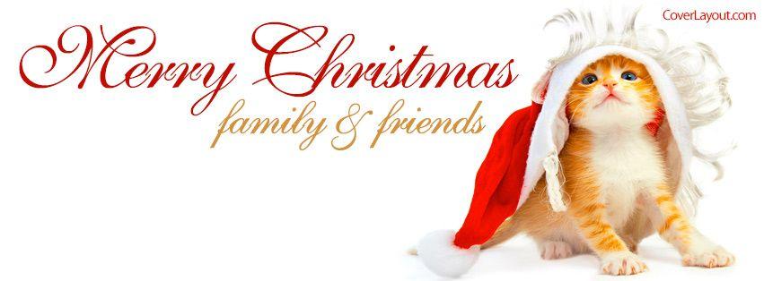 Kitty santa merry christmas family and friends facebook for Merry christmas wishes for friends