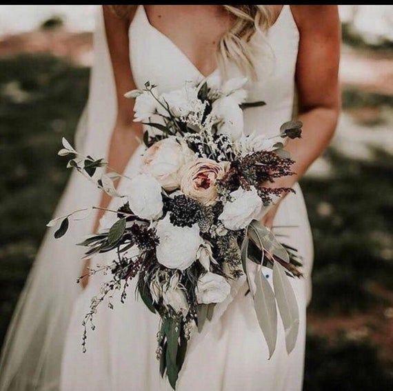 SPRING Bridal bouquet cascading bouquet brides bouquet | Etsy