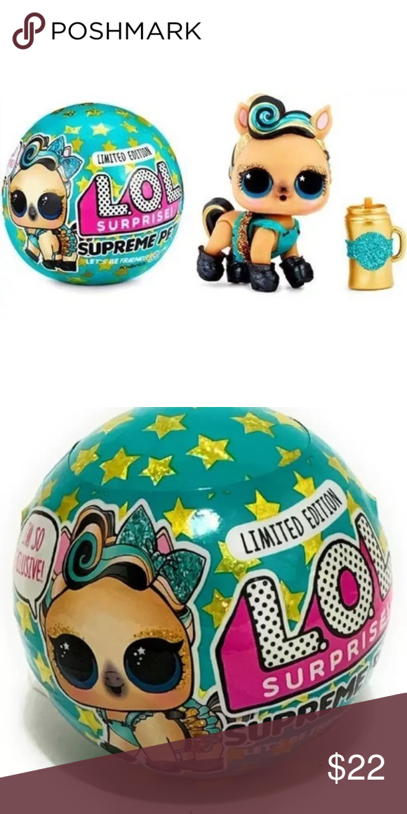 LOL Surprise Limited Edition SUPREME PET Series Lucky Luxe Pony Ball In Hand!