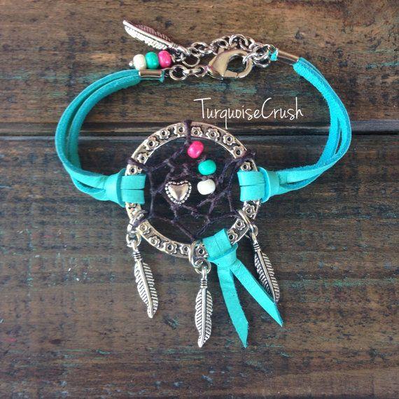 Dreamcatcher Boho sieraden Bohemian Turquoise. door TurquoiseCrush