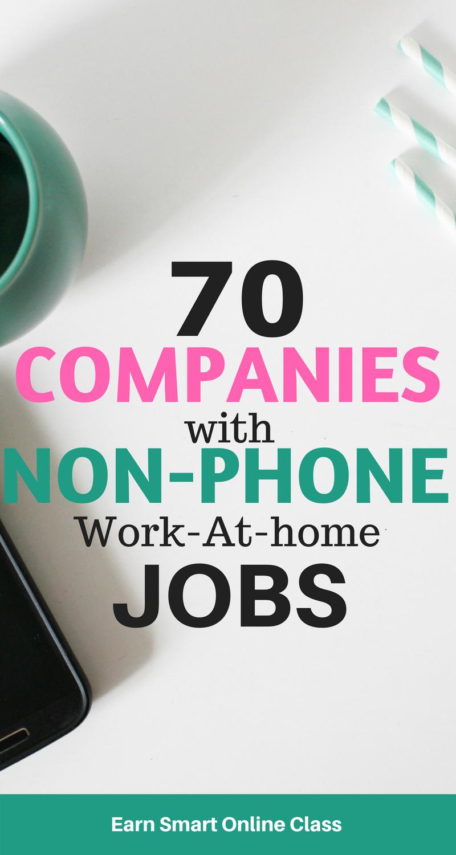 70+ Legitimate Non-Phone Work-at-Home Jobs