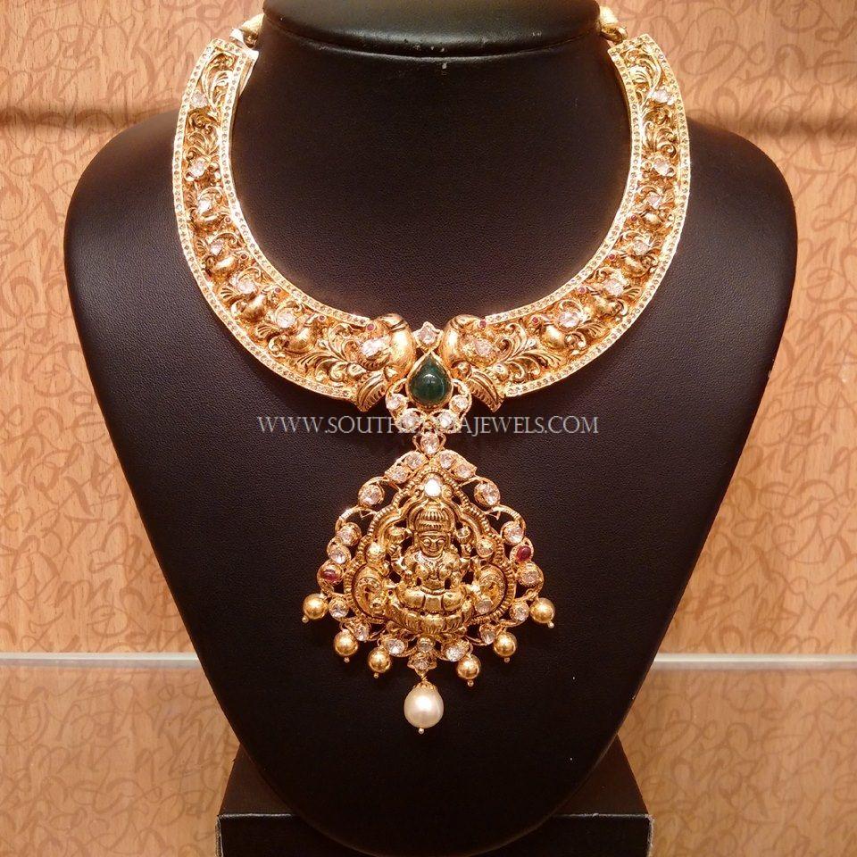 Uncut Diamond Nakshi Necklace Uncut diamond Necklace designs