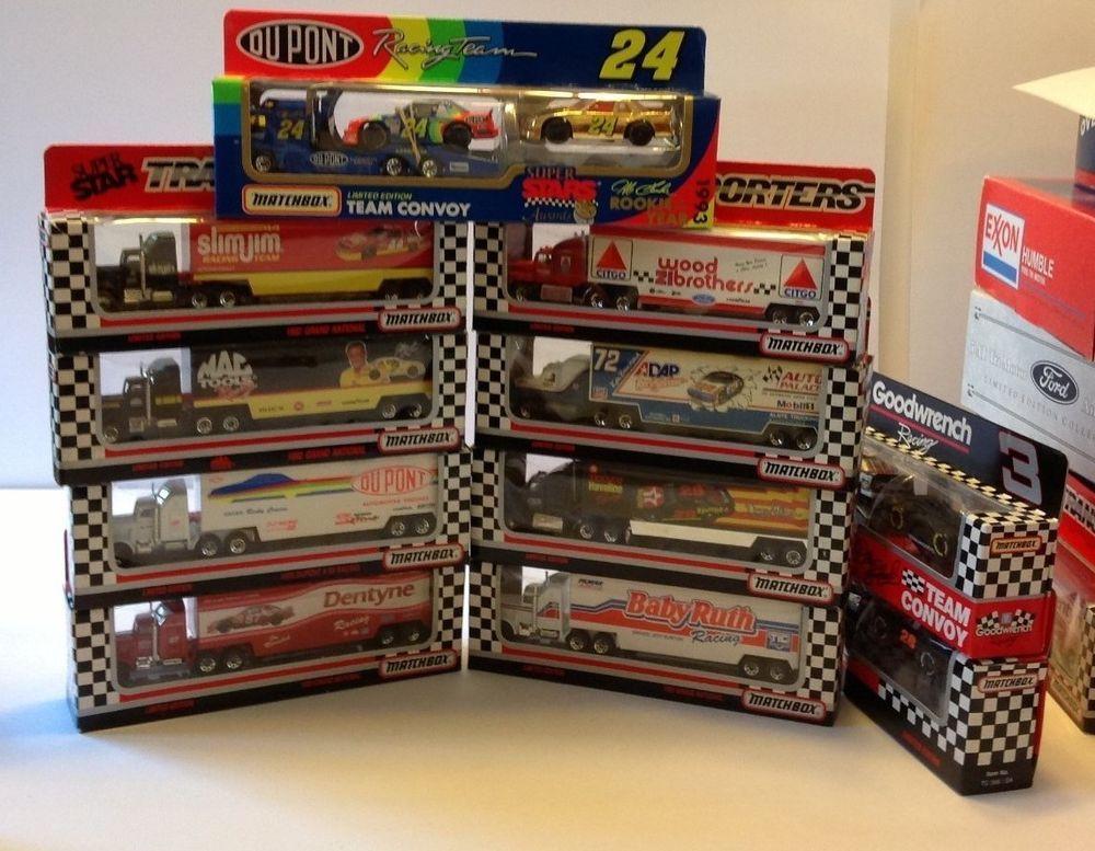 Nascar Lot of 11 MATCHBOX NASCAR TRANSPORT Team Convoy