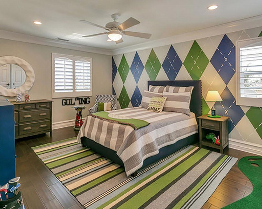 Golfing Word   Bedroom themes, Bedroom decor, Green kids rooms