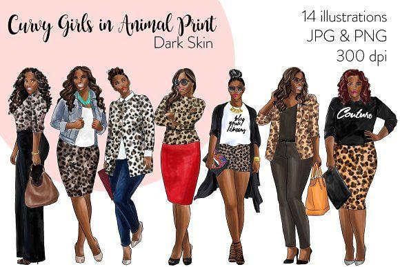 Curvy Girl in Animal Print-Dark Skin in 2020 | Fashion ...
