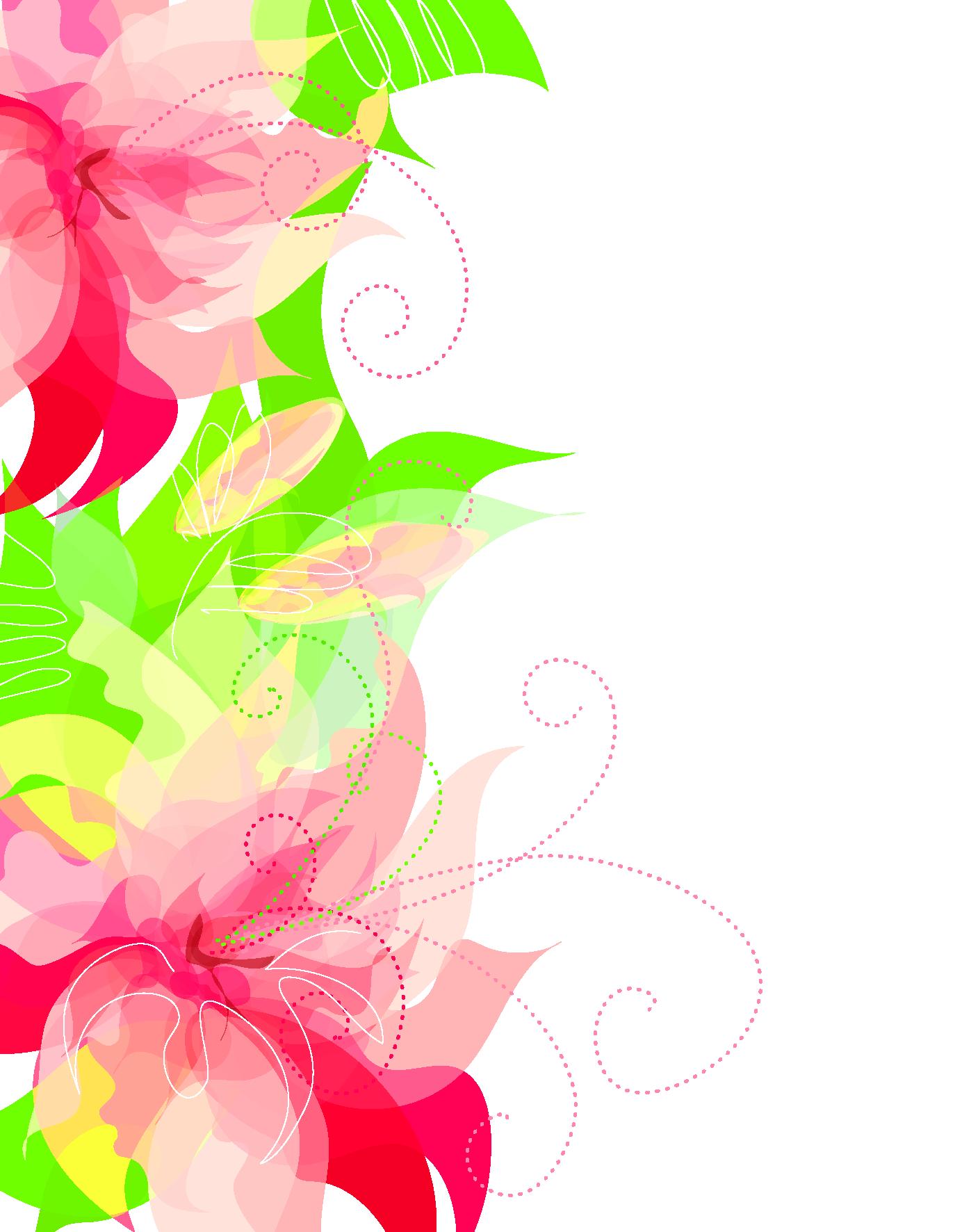 Cute Floral Decoration Transparent PNG Clipart | decoración ...