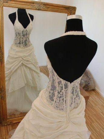 Hochzeitskleid Corsage Durchsichtig  Friseur