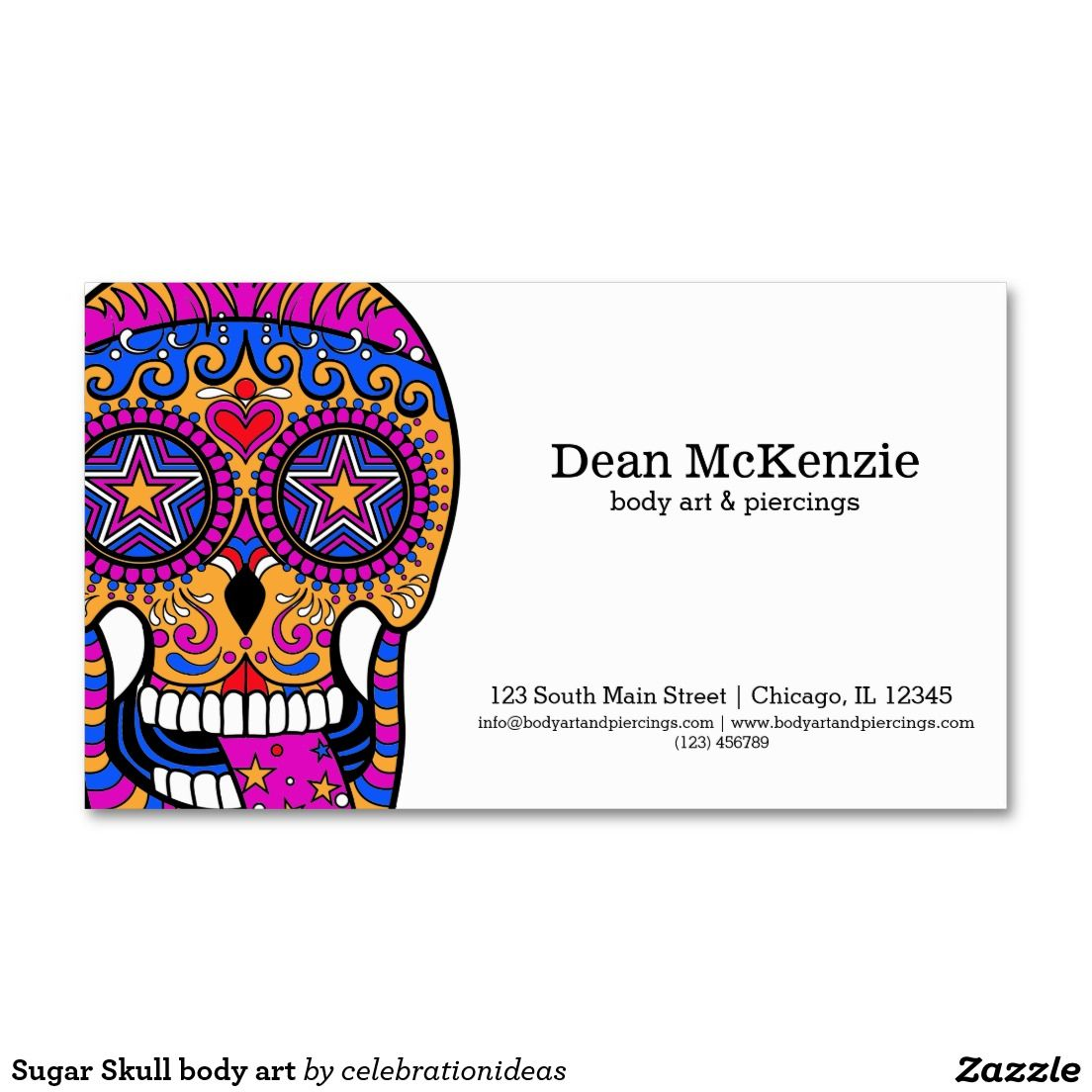 Sugar skull body art business card body art skulls and art sugar skull body art business card magicingreecefo Choice Image