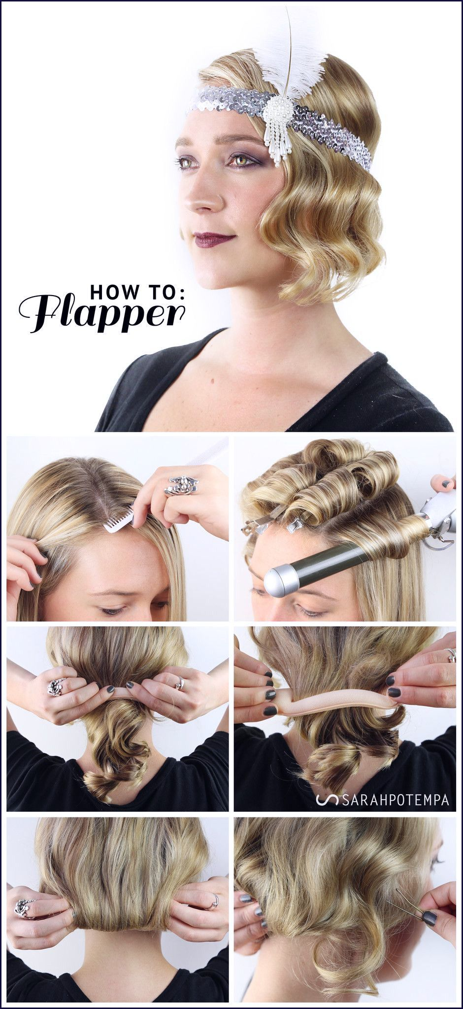 1920s Hairstyles For Medium Hair Inspirational Halloween Fabulous Flapper In 2018 1920s Pinterest Gatsby Hair Flapper Hair 20s Hair