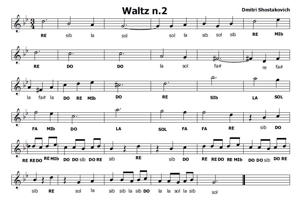 Musica e spartiti gratis per flauto dolce waltz n 2 di for Creatore di piano casa gratuito