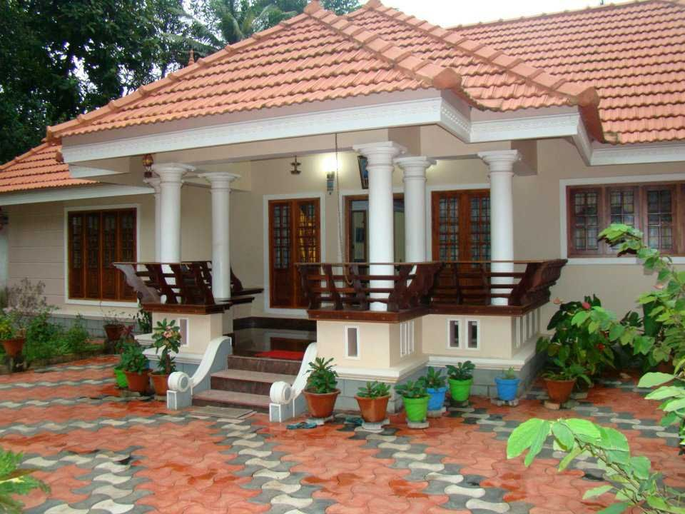 Elevation 0141 kerala home elevations pinterest for Kerala traditional home plans
