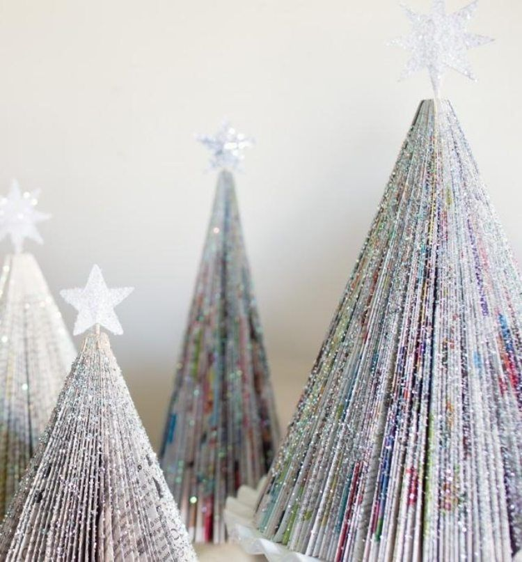 deco sapin papier journal