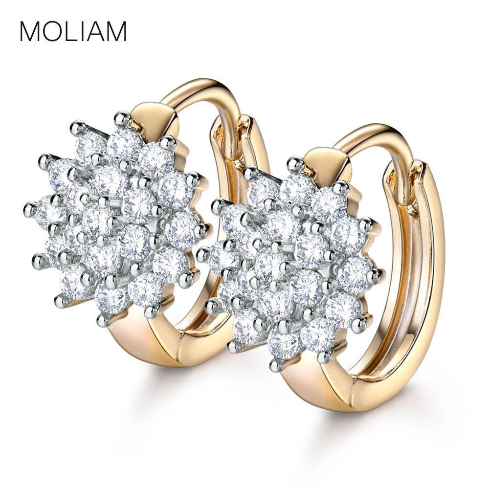 6f2d1f36b02cc MOLIAM Luxury AAA Cubic Zirconia Hoop Earrings for Women Fashion ...