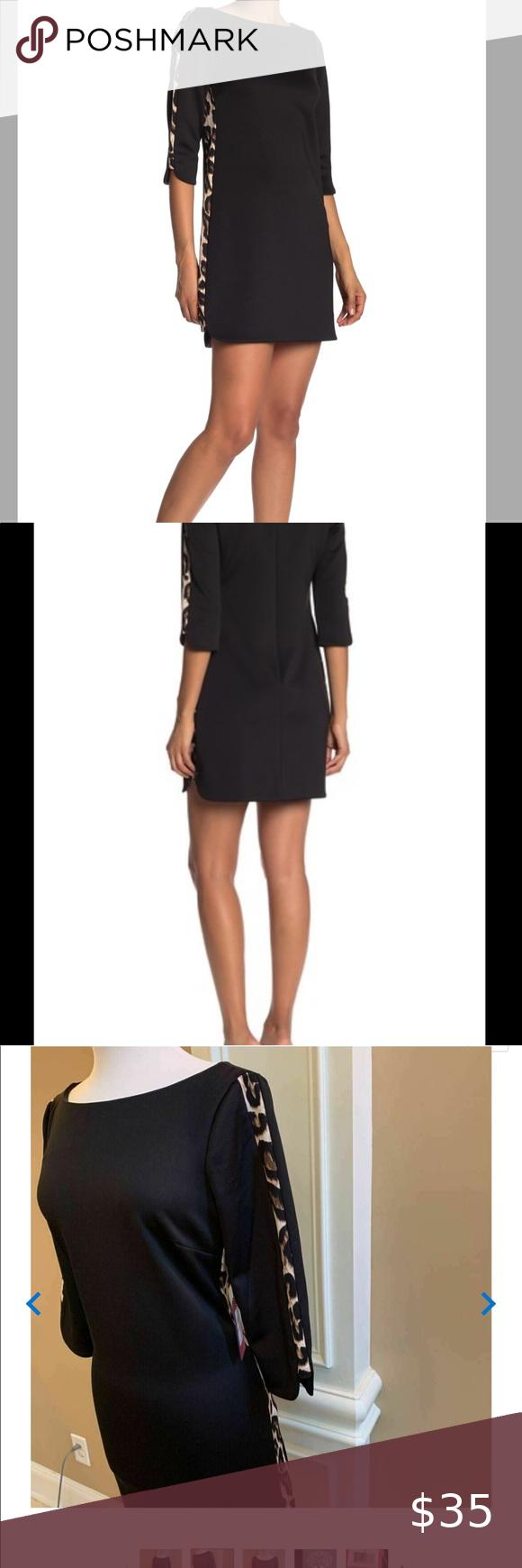 Vince Camuto Black Sheath Dress Classic Sheath Dress Black Sheath Dress Boat Neck Dress [ 1740 x 580 Pixel ]