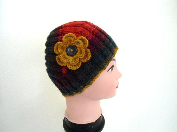 Flower Headband warm knit headband knitting gift by likeknitting, $16.99