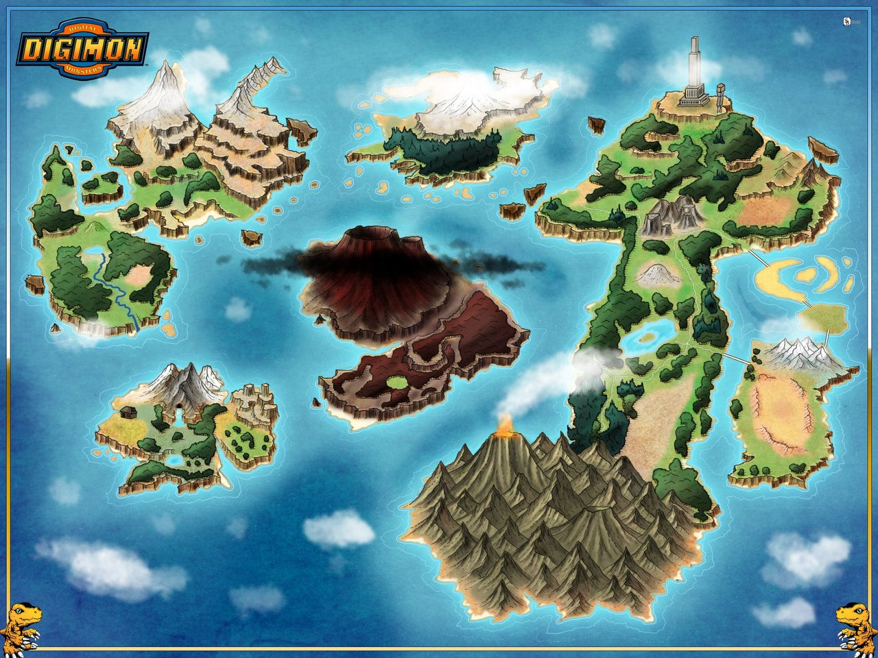 Digimon world map commission by stratomunchkin rpg fantasia digimon world map commission by stratomunchkin gumiabroncs Image collections
