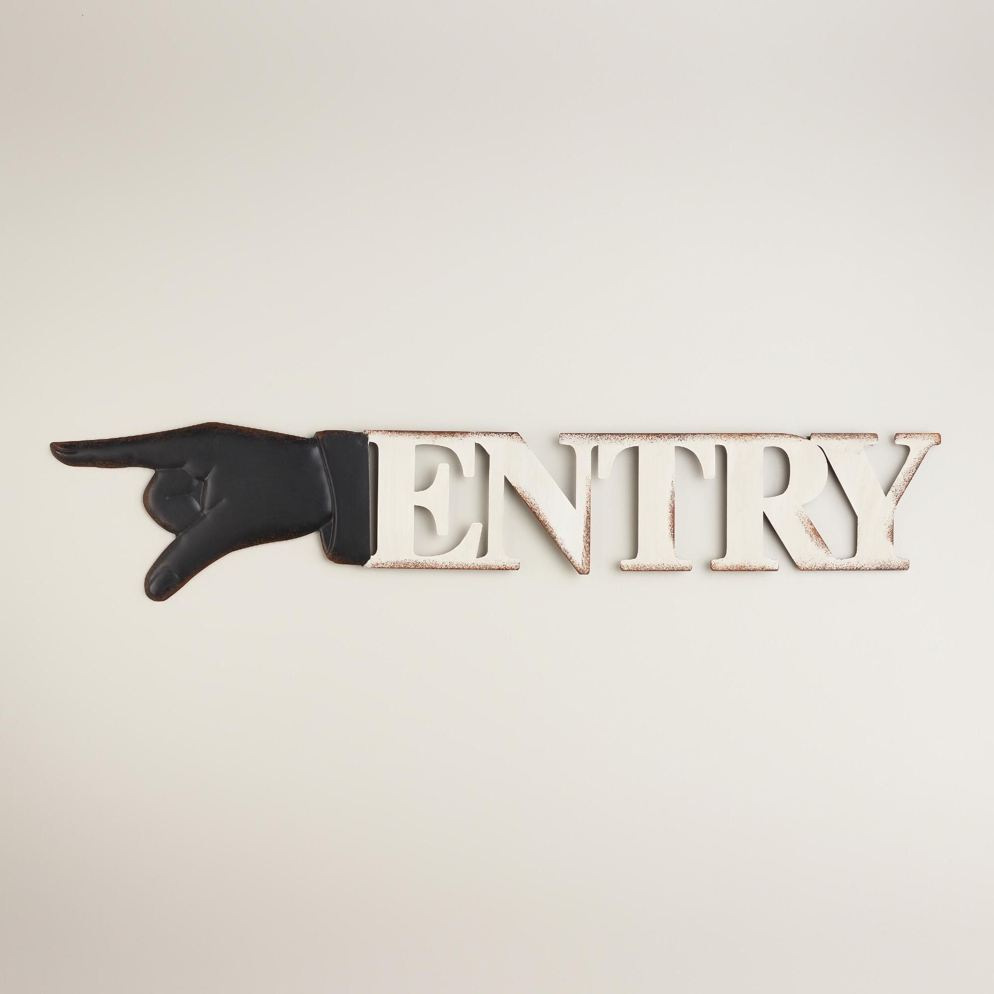Metal retro entry sign world market gifts pinterest retro