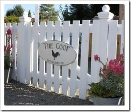 Castle and Cottage Coop Sign