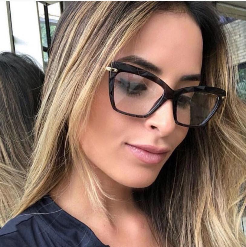 Detalhes Sobre Armacoes De Oculos Quadrado Da Moda Feminino Marca