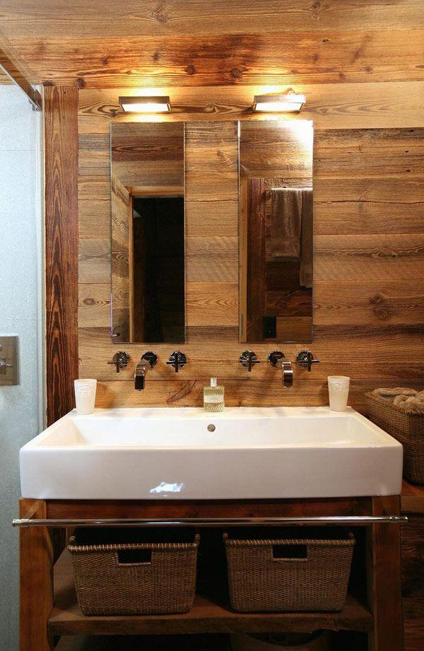Maisons | Douches en verre, Salle de bain en bois et Cotemaison fr