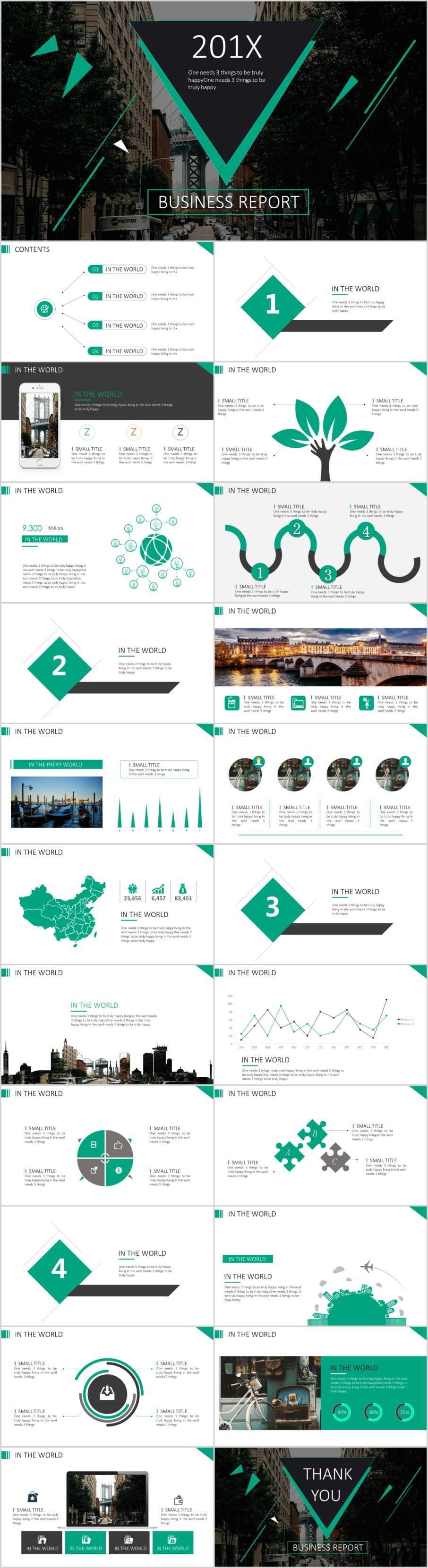 23 green business design PowerPoint templateThe highest quality PowerPoint Templates and Keynote Templates download