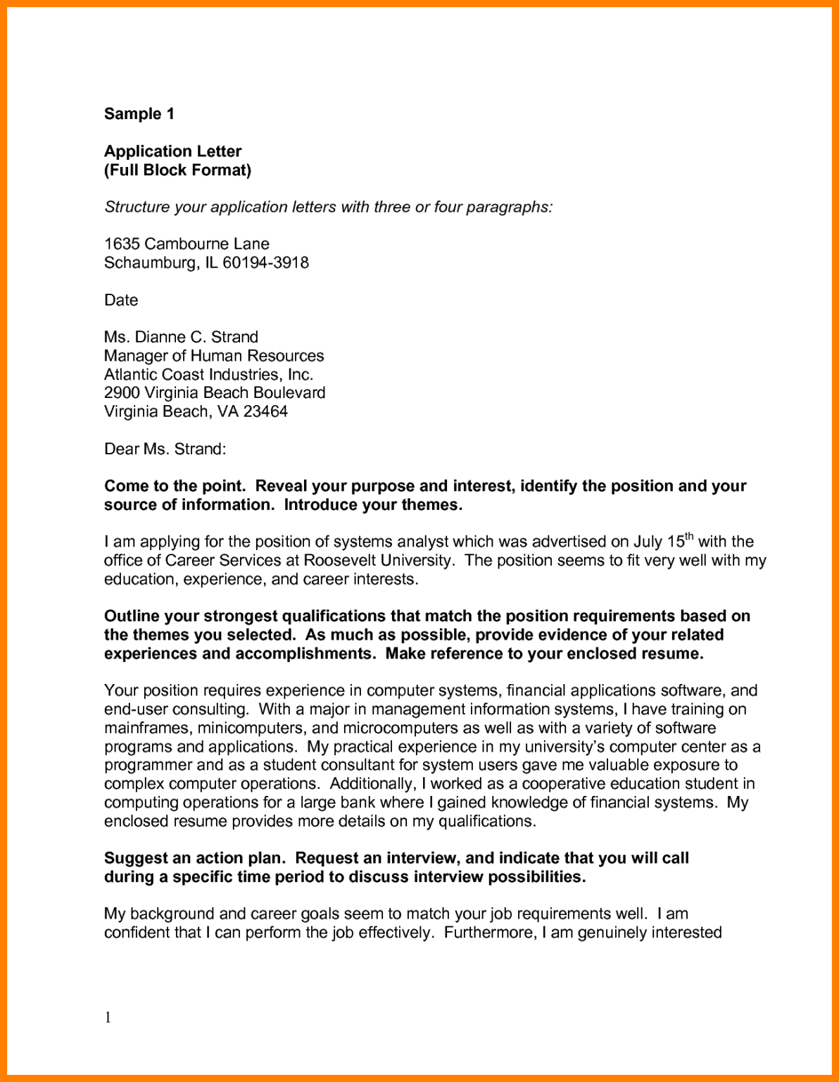 Block Format Cover Letters Calep.midnightpig.co intended