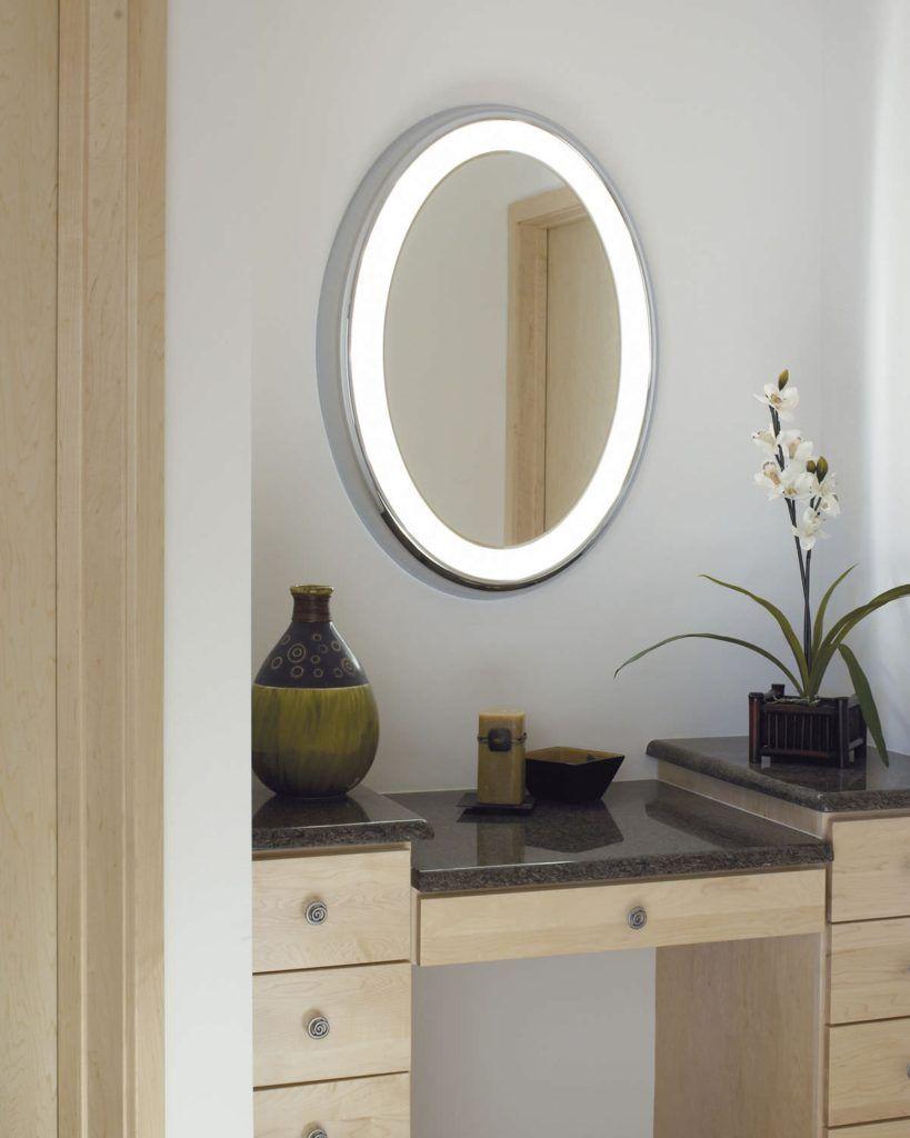 Light up oval bathroom mirror bathroom decor pinterest oval