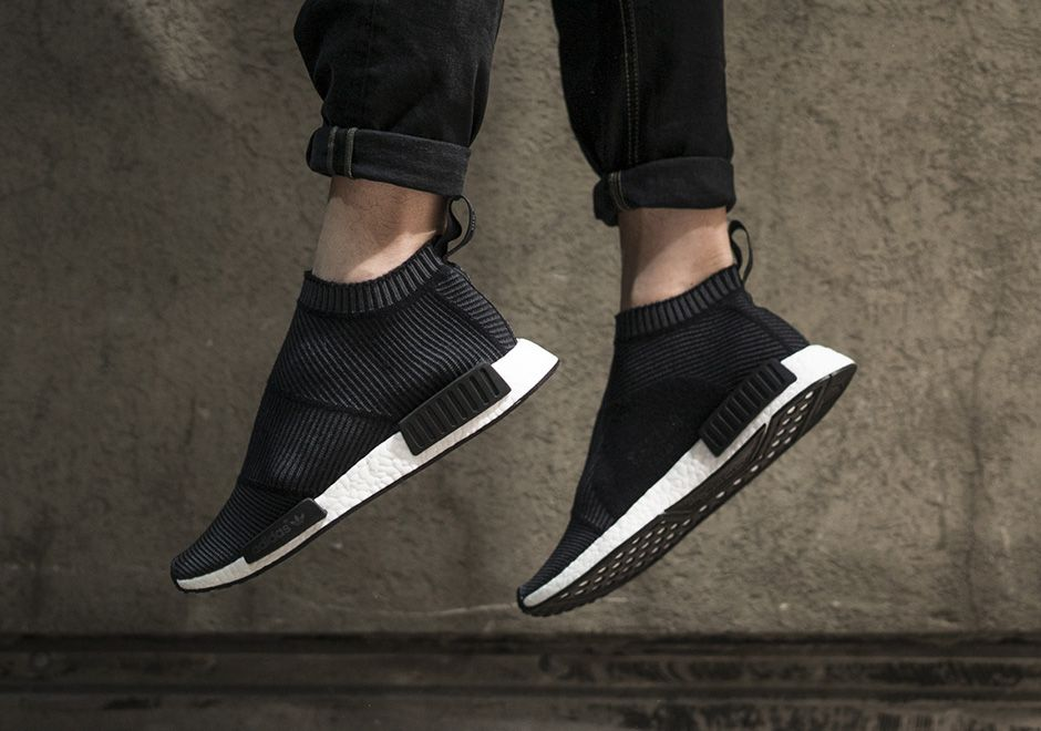 d8d7069e9  sneakers  news A Detailed On-Foot Look at the adidas NMD City Sock in Black  and White