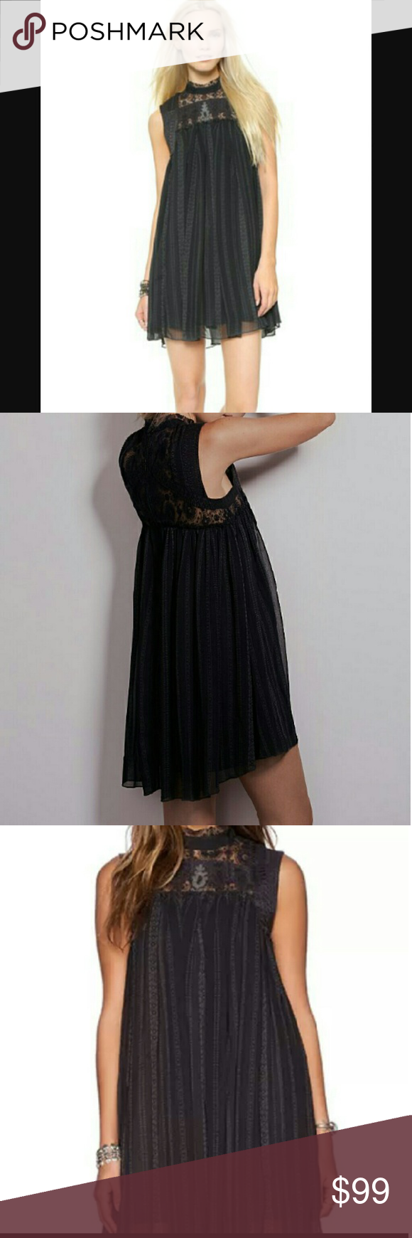 Free People Black Penny Georgette Babylon Dress L Dresses Free People Dress Clothes Design [ 1740 x 580 Pixel ]