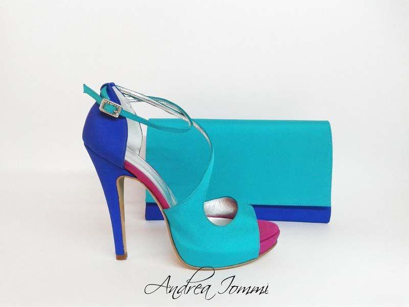 new style cdfd0 c83a4 sandali da cerimonia tacco 12 e pochette coordinata. www ...