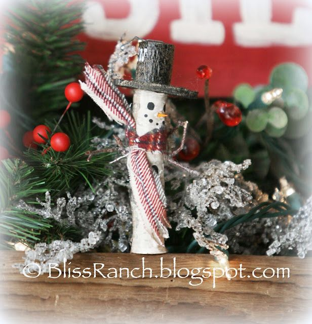 Bliss Ranch Rustic Homemade Ornaments  Link Party Pals Christmas