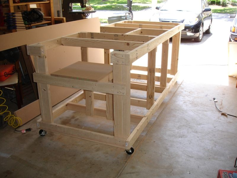 Backyard Workshop Ultimate Workbench Photo Sequence For