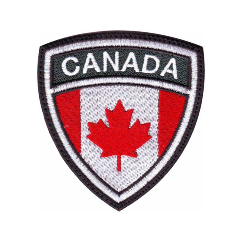 CANADA FLAG CREST EMBROIDERED PATCH ThePatchLab