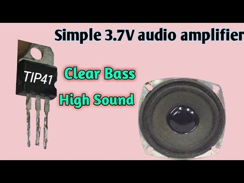 Audio amplifier using Transistor Tip41 - YouTube in 2020 ...