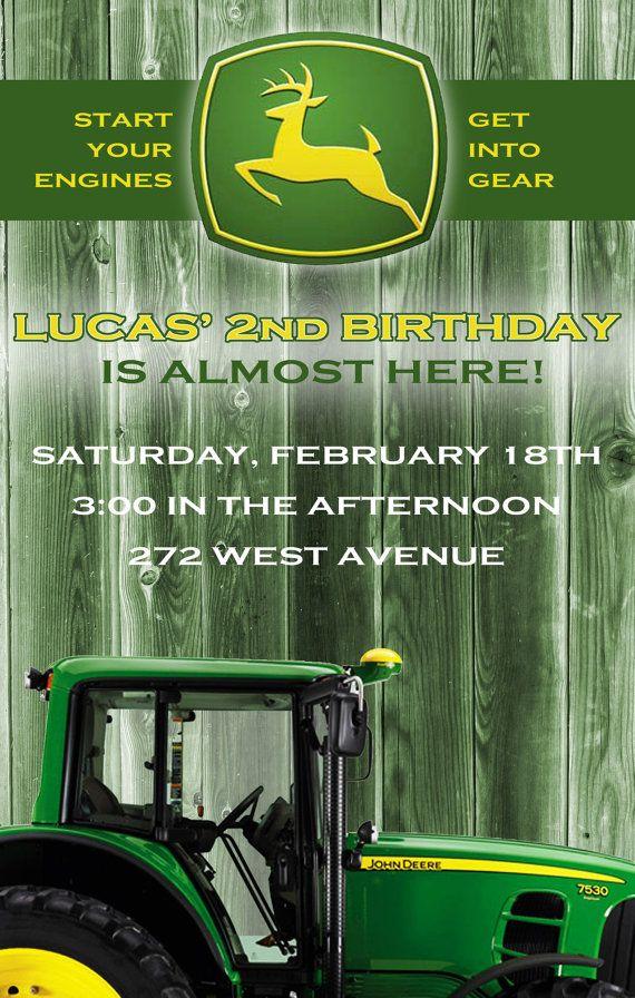 John Deere Tractor Birthday Invitation I like these best so far – John Deere Printable Birthday Invitations