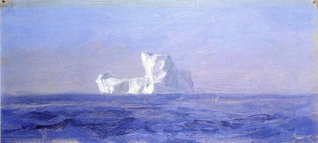 Off Iceberg, Terre-Neuve, huile de Frederic Edwin Church (1826-1900, United States)