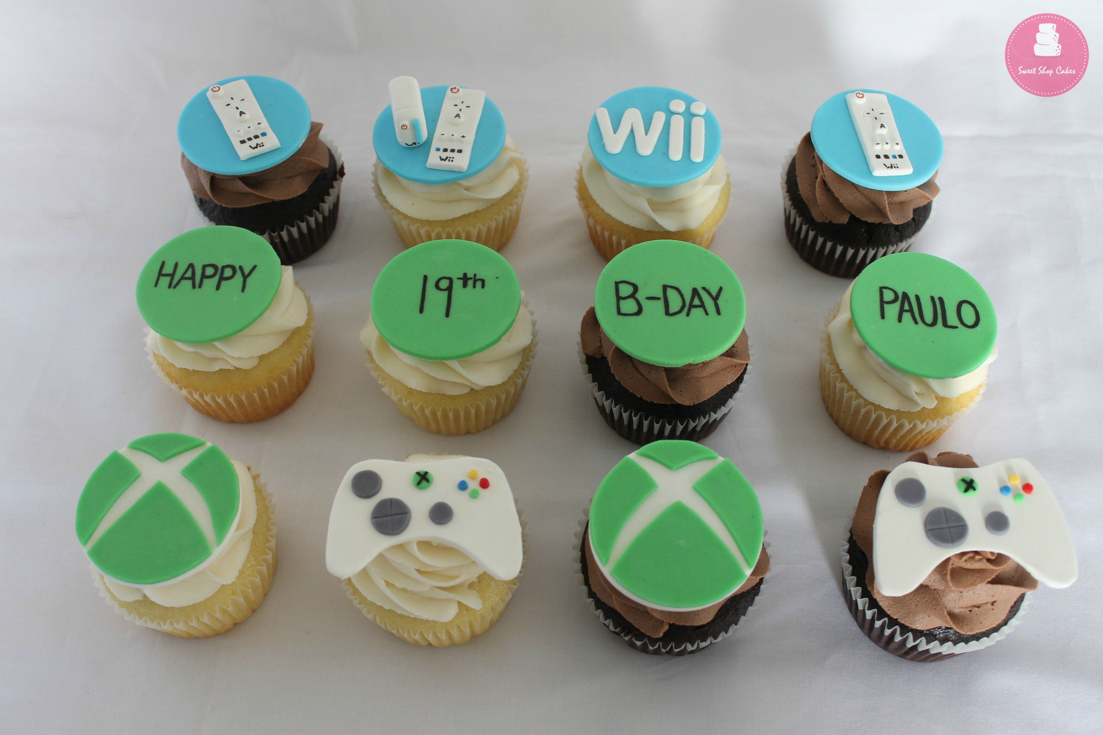 Xbox and Wii Cupcakes