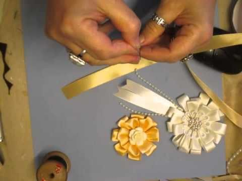 Handmade Ribbon Flowers Tutorial - jennings644 - YouTube #ribbonflower