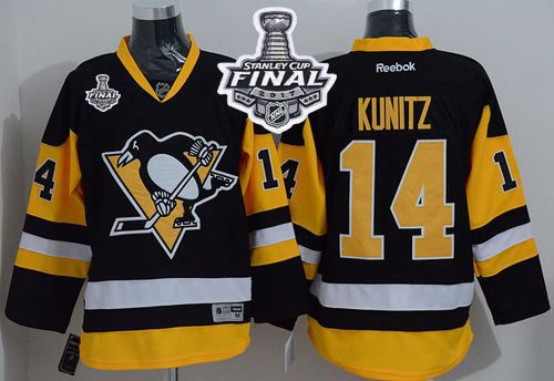 d5958154838 ... official penguins 14 chris kunitz black alternate 2017 stanley cup  final patch stitched nhl jersey e65a9