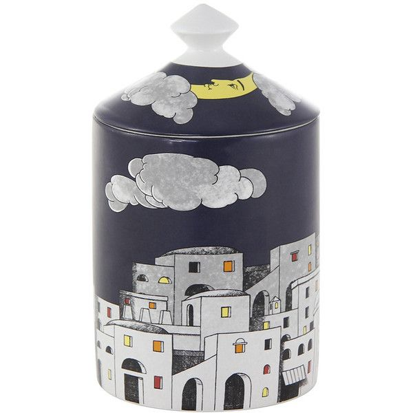 Fornasetti Scented Candle - La Notte di Capri (€150) ❤ liked on Polyvore featuring home, home decor, candles & candleholders, blue, fornasetti, fornasetti candles, blue candles, blue home decor and scented candles