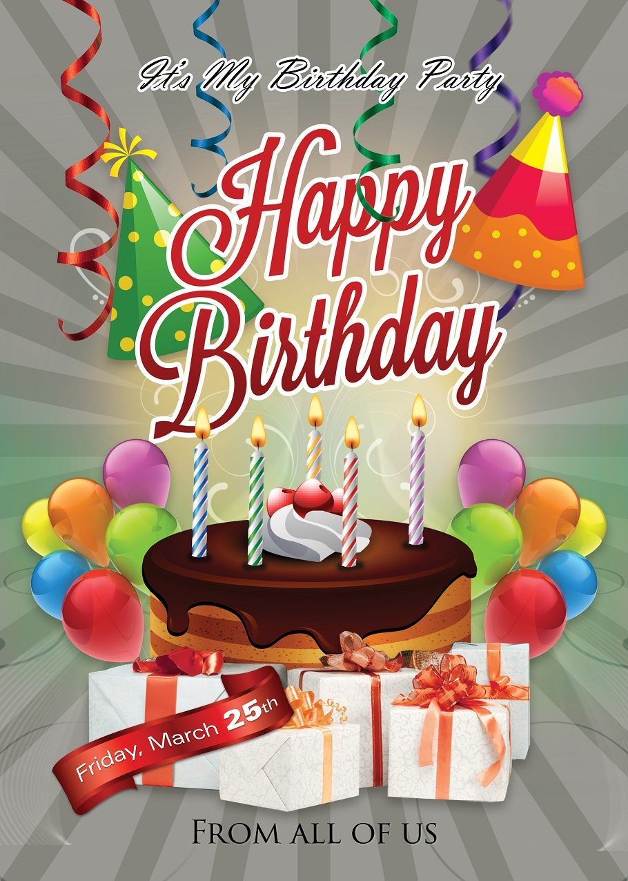 Happy Birthday Flyer Design Flyers And Brochures Pinterest