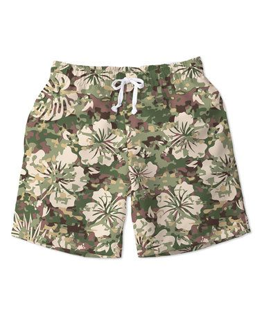 Another great find on #zulily! Green Camo Swim Trunks - Toddler & Boys #zulilyfinds