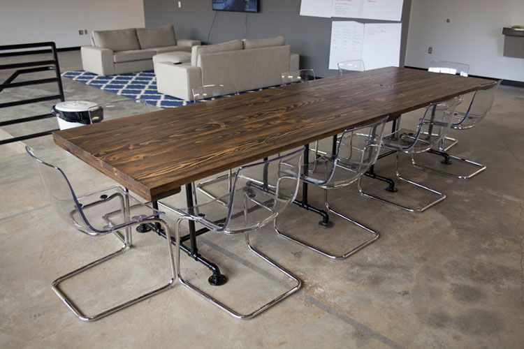 Solid Wood Industrial Style Conference Tables This Is Two Ft - 6ft conference table